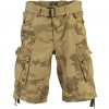 GEOGRAPHICAL NORWAY PANORAMIQUE CAMO SHORTS BEIGE