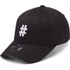 State Of Wow Šiltovka Hashtag Baseball Cap - Crown 2 - Black/White - Strapback