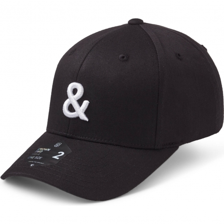 State Of Wow Šiltovka Ampersand Baseball Cap - Crown 2 - Black/White - Strapback