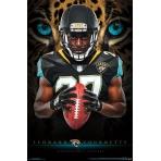 NFL Poster Jacksonville Jaguars Leonard Fournette