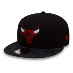 New Era Šiltovka Nba New Era 950 Team Camo Chicago Bulls Black