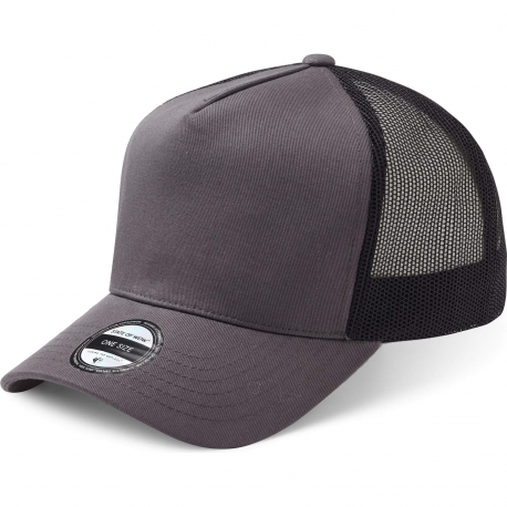 State Of Wow Šiltovka Reed Baseball Trucker Dk Grey Black