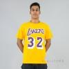 MITCHELL & NESS NBA TRADITIONAL TEE LA LAKERS / MAGIC JOHNSON No. 32 YELLOW