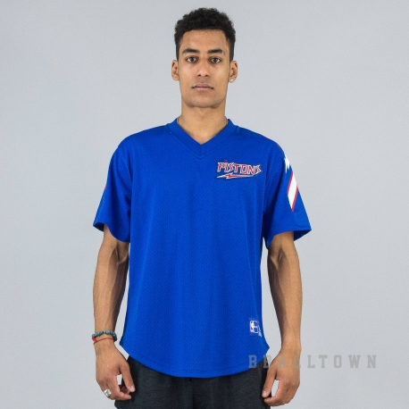 MITCHELL & NESS NBA WINNING TEAM MESH V-NECK DETROIT PISTONS ROYAL