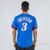 MITCHELL & NESS NBA NAME/NUMBER MESH CREWNECK PHILADELPHIA 76ERS / ALLEN IVERSON ROYAL/RED