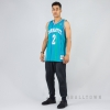 MITCHELL & NESS NBA SWINGMAN JERSEYS CHARLOTTE HORNETS 1992-93 / LARRY JOHNSON Nr. 2 TEAL