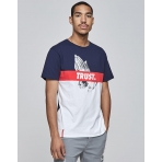 Cayler & Sons White Label Block Trust Tee White/Navy