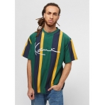 Karl Kani College Stripes Tee green/yellow/black