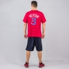 MITCHELL & NESS NBA TRADITIONAL TEE PHILADELPHIA 76ERS / ALLEN IVERSON No. 3 RED
