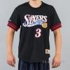 Mitchell & Ness NBA Name/Number Mesh V-Neck Philadelphia 76ERS / Allen Iverson Black/Red