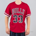 MITCHELL & NESS NBA NAME/NUMBER MESH CREWNECK CHICAGO BULLS / SCOTTIE PIPPEN RED