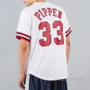 Mitchell & Ness NBA Name/Number Mesh V-Neck Chicago Bulls / Scottie Pippen White/Red