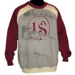 PASS THE ROC SWEAT SHIRT BURGUNDY GREY