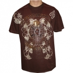 AKADEMIKS SEQUIN TEE FRENCH ROAST