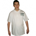 SOUTH POLE POLO SHIRT WHITE SILVER