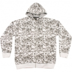 SOUTH POLE WHITE ZIP HOODY