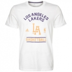 ADIDAS MENS LA LAKERS TEE-SHIRT