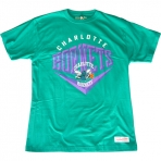 Mitchell & Ness Beveled Traditional Tee Charlotte Hornets