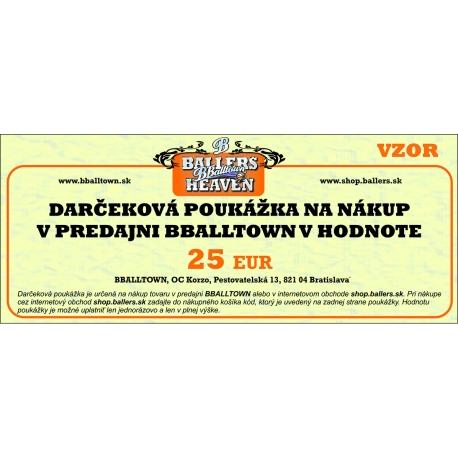 Darčeková poukážka v hodnote 25 eur