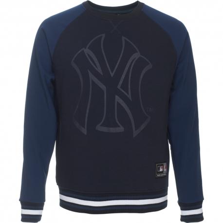 Majestic Raglan Mix Fabric Crew Sweat NY Yankees