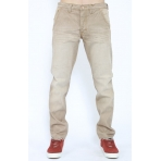 CROOKS & CASTLES RULER BANGER FIT MENS DENIM PANTS KHAKI
