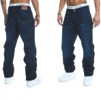 Rocawear Stay True Injection Denim Pants Dark Night Blue