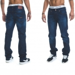 Rocawear Stay True Injection Denim Pants Mid Blue
