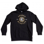 Crooks & Castles Hooded Pullover - Crooks Seal Black
