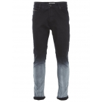Shine Drop Crotch Jeans-Shade Čierne