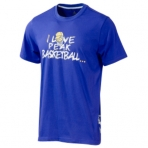 Peak I love Basketball Round Neck T-Shirt