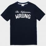 WRUNG T-SHIRT INFAMOUS NAVY BLUE