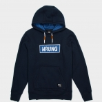 WRUNG HOODY NAME BOX NAVY BLUE