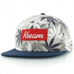 Kreem smoke more weed snapback cap light grey