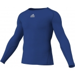 Adidas Mens Logo Techfit Long Sleeve Tops Royal