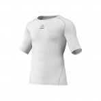 Adidas Mens Logo Techfit Tops White
