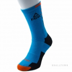 PEAK BASKETBALL SOCKS W14907 LAKE BLUE/BLACK/FLUORESCENT ORANGE
