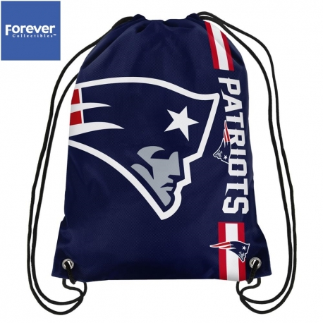 Forever Collectibles Cropped Logo Drawstring Bag NFL New England Patriots