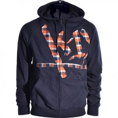 K1X wrap around check hoody