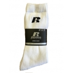 RUSSELL ATHLETICS Essential Sports Crew 3 páry biele