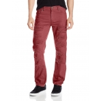 SOUTH POLE RIPPED NON DENIM PANT BURGUNDY