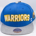 Mitchell & Ness Training Room Snapback Golden State Warriors Blue / Grey