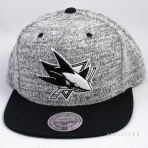 Mitchell & Ness Grey Duster Snapback San Jose Sharks Grey / Black