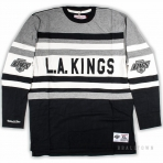 Mitchell & Ness Nhl Open Net Longsleeve Los Angeles Kings Black / Grey