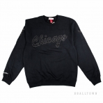 Mitchell & Ness Nba Bank Shot Crew Chicago Bulls Black
