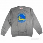 Mitchell & Ness Team Logo Crew Golden State Warriors Grey