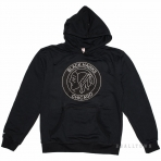 Mitchell & Ness Black And White Logo Pullover Hoody Chicago Blackhawks Black