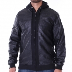 Pelle Pelle Mix-Up Hooded Jacket - Pitchblack