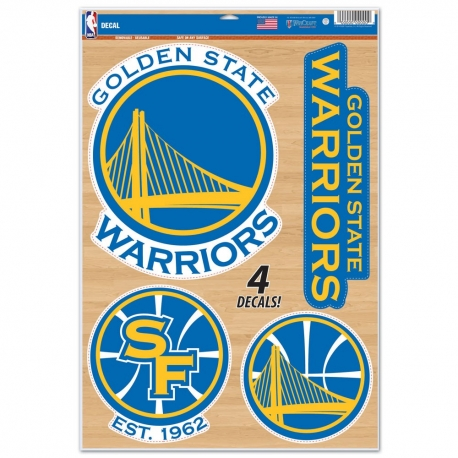 Wincraft Multi Use Decal-Set Golden State Warriors
