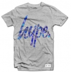 Hype Blue Palm Script T-Shirt