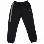 PEAK BRUSHED KNITTED SWEATER PANTS F353011 BLACK